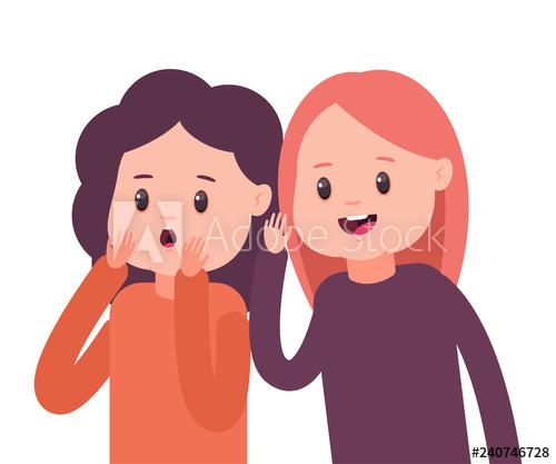 Girls to each other. Whisper clipart whisper secret