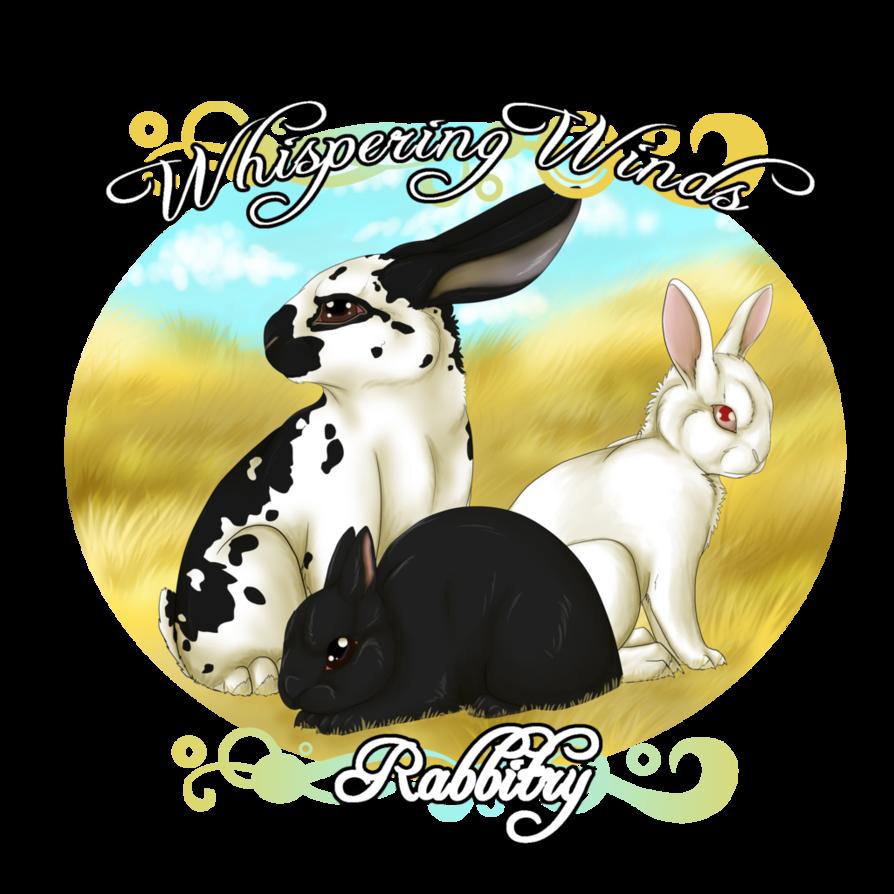 Whispering winds rabbitry logo. Whisper clipart whispered