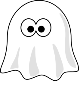 White clipart. Ghost