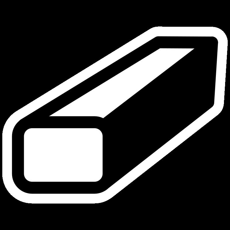 White clipart eraser. Mono tool medium image
