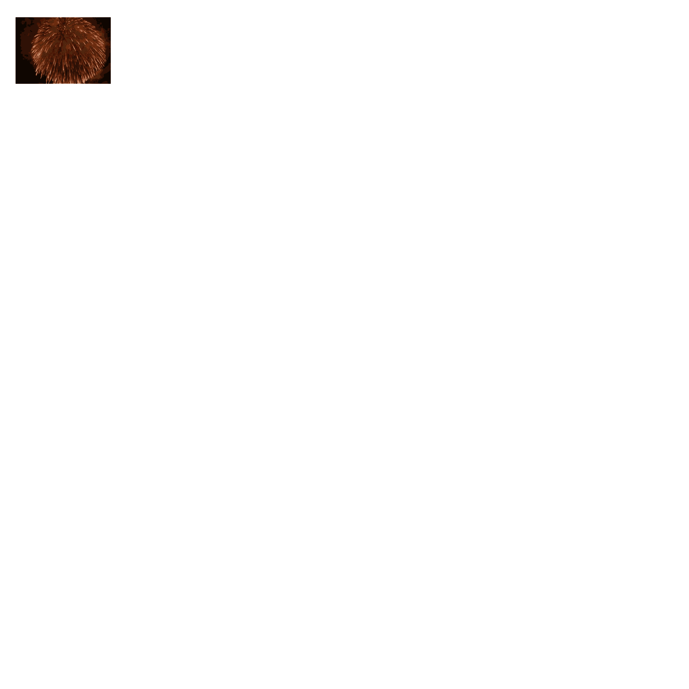 Css animation big image. White clipart firework