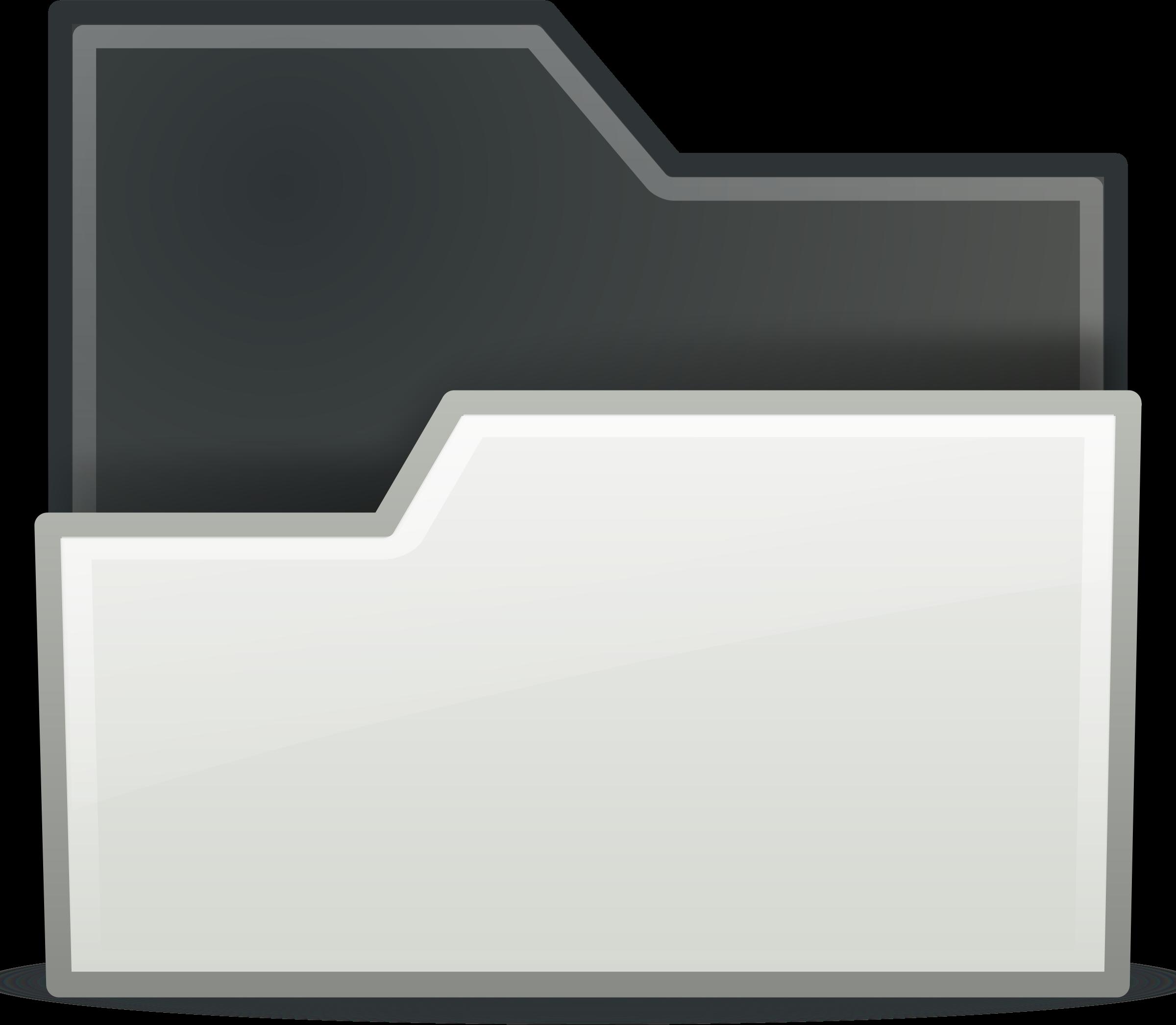Open big image png. White clipart folder