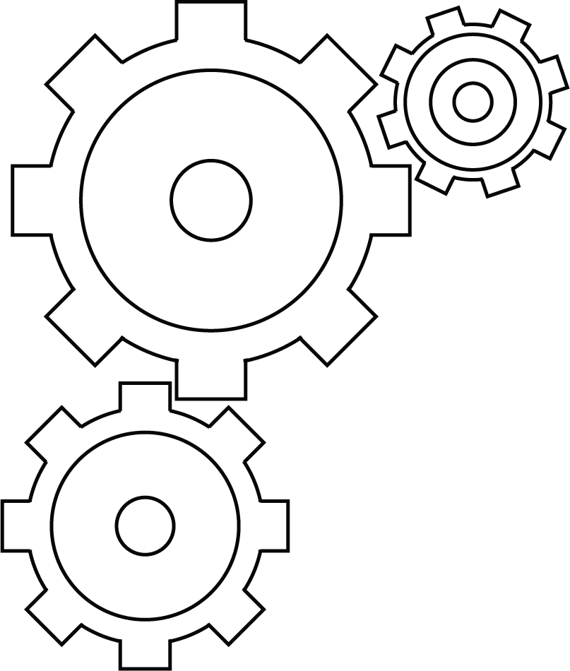 collection of high. White clipart gear
