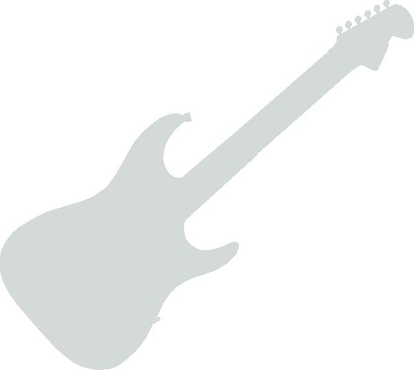 Grey clip art at. White clipart guitar