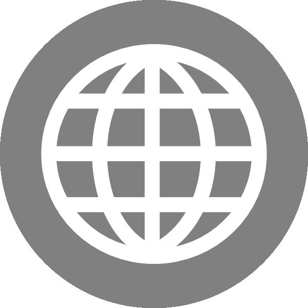 Icon clip art at. White clipart internet