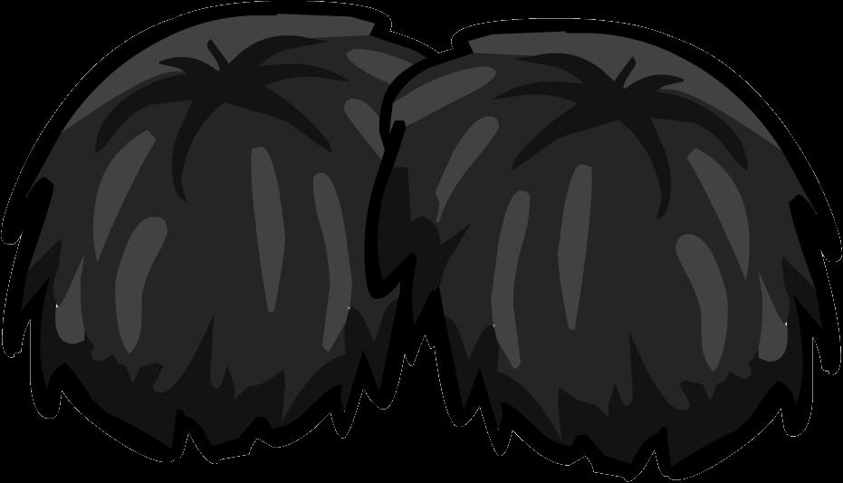 White clipart pom pom. Image black pompoms png