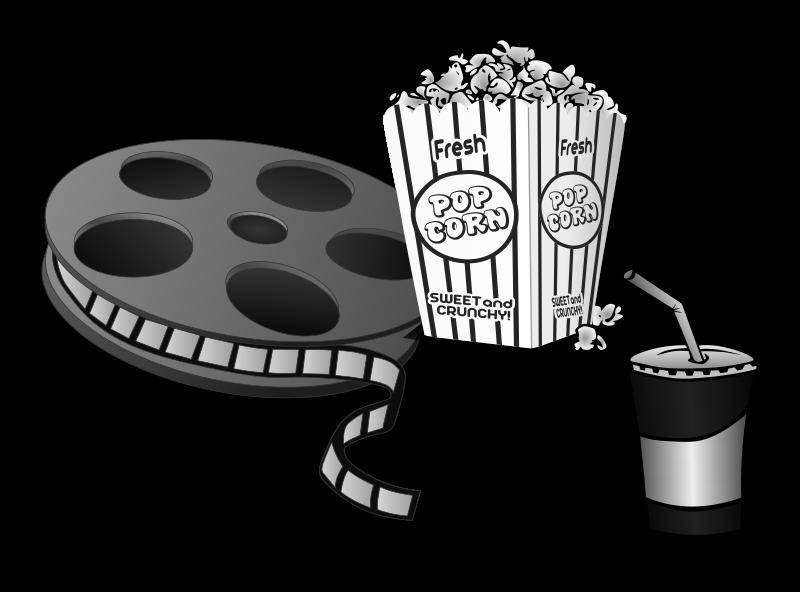 Movie and clipartblack com. White clipart popcorn