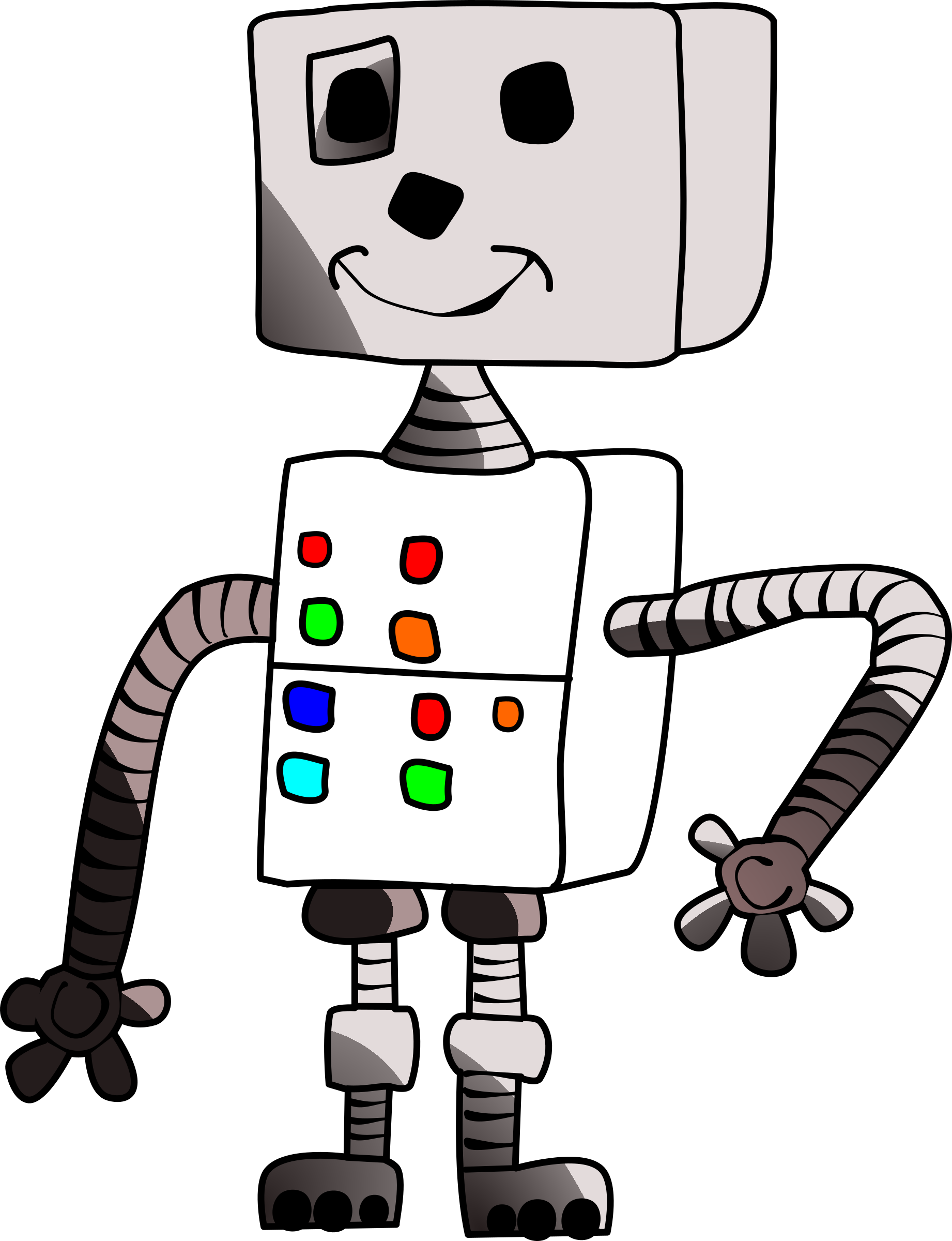 White clipart robot. Childlike big image png