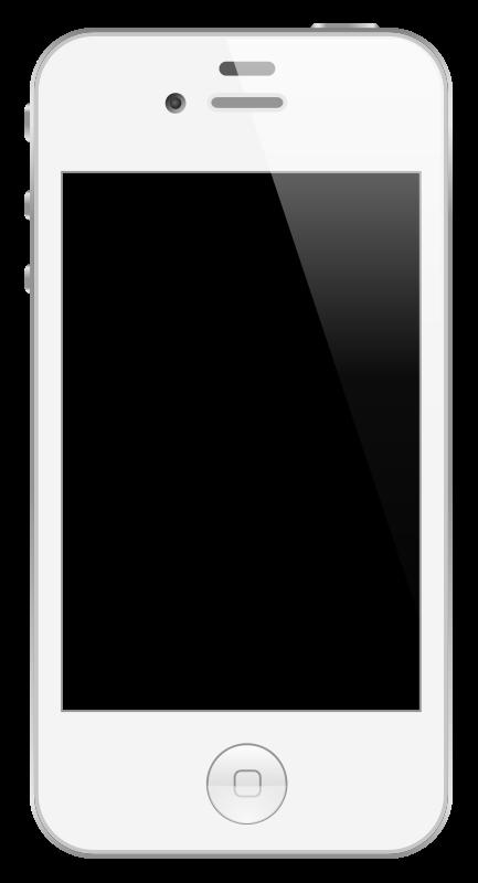 Mobile phone clipartblack com. White clipart telephone