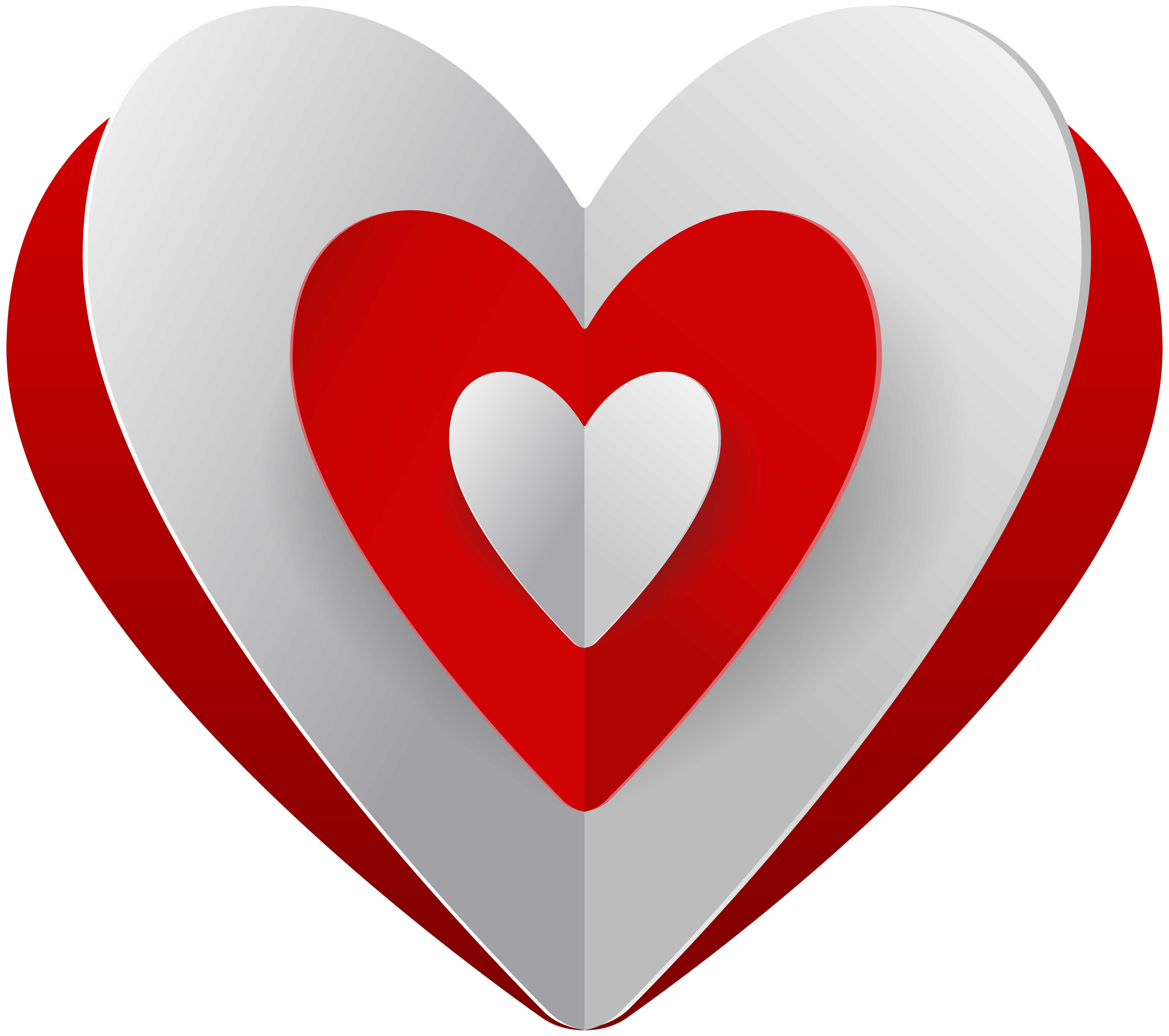 Red heart clip art. White hearts png