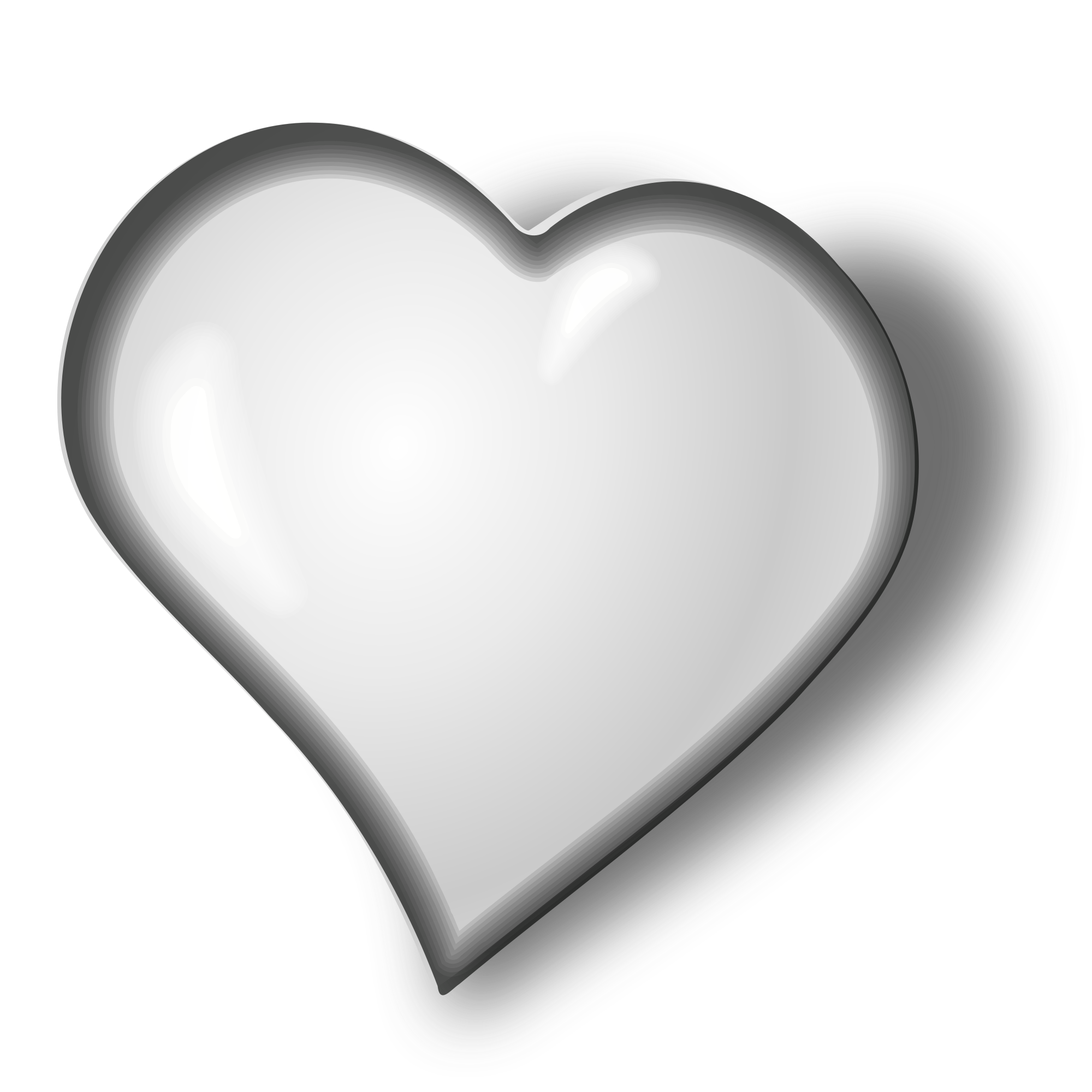 white hearts png