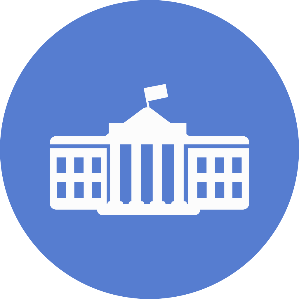 Election circle blue iconset. White house icon png