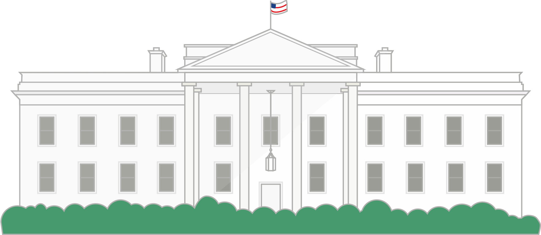 White house png. Build a wall to