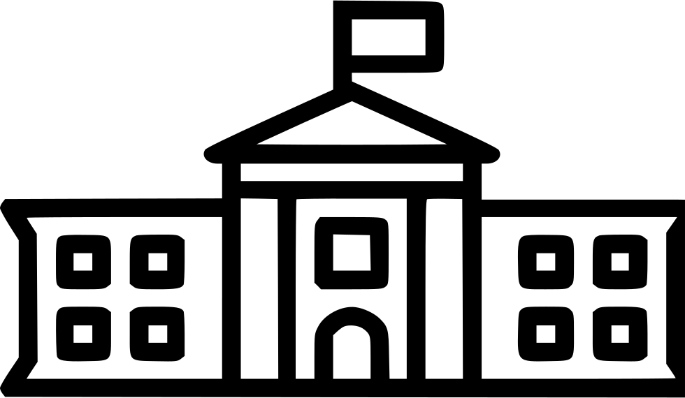 The svg icon free. White house png