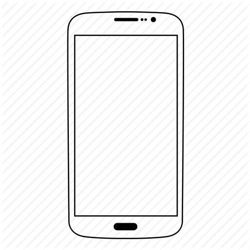 Thin line smartphones by. White phone icon png