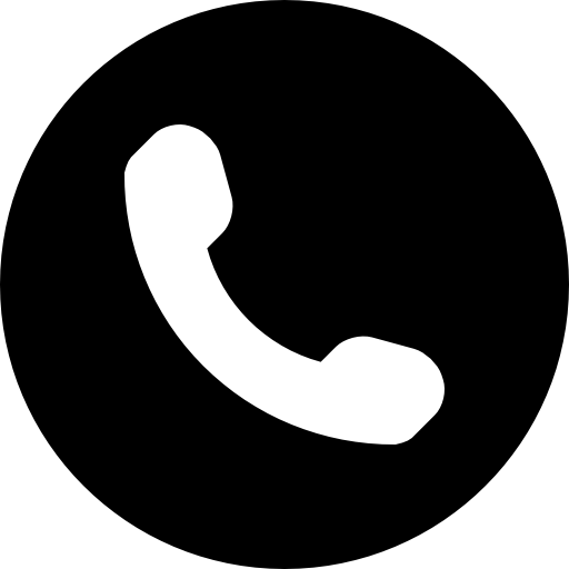 Symbol of an auricular. White phone icon png