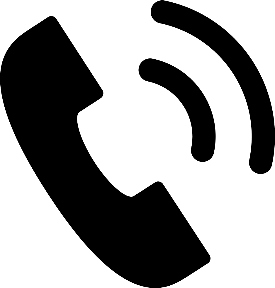White phone icon png. Basic call svg free