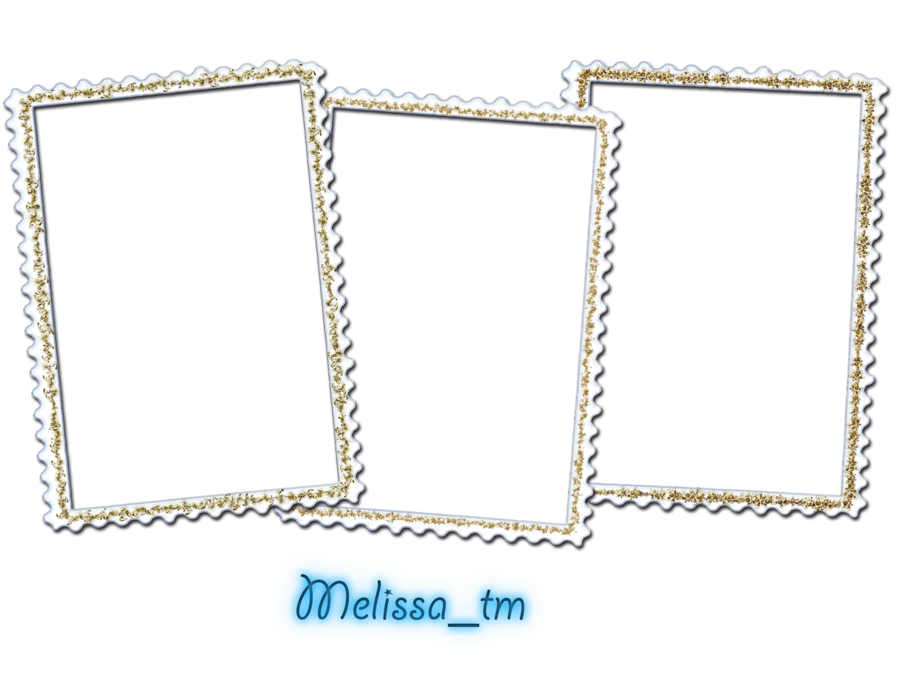 White picture frame png. Three frames by melissa