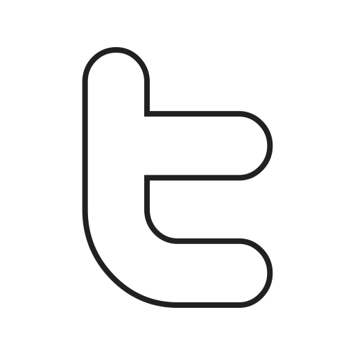 White twitter bird png. Outline black icon ico