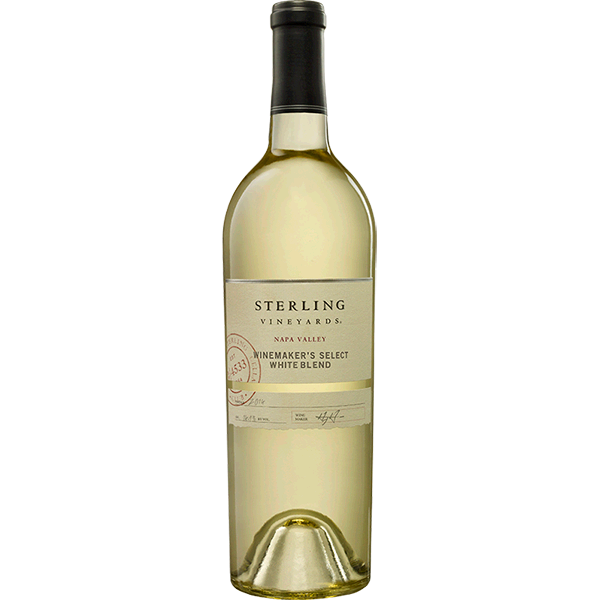 sterling vineyards cellar. White wine bottle png