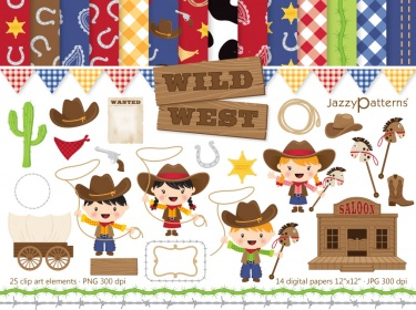 Clip art and digital. Wild west clipart