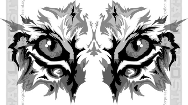 Wildcat clipart. Vector eyes graphic image