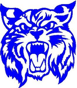 Logo blue clip art. Wildcat clipart