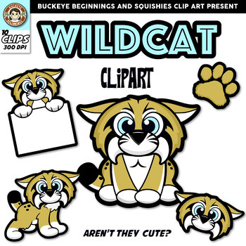 Wildcat clipart. Clip art squishies by
