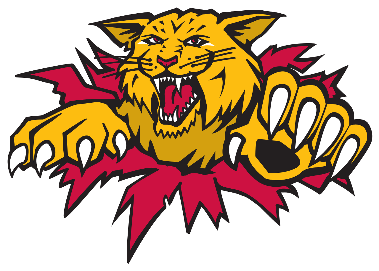 Wildcat clipart adirondack. Moncton wildcats circling the