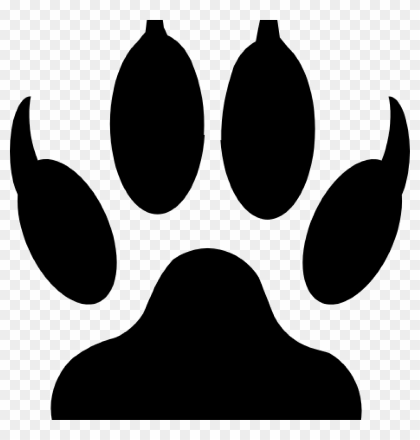 Paw clip art grizzly. Wildcat clipart bear claw