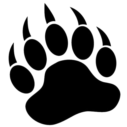 Paw vector graphics clip. Wildcat clipart bear claw