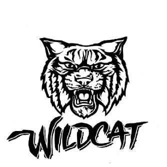 Image result for high. Wildcat clipart black and white