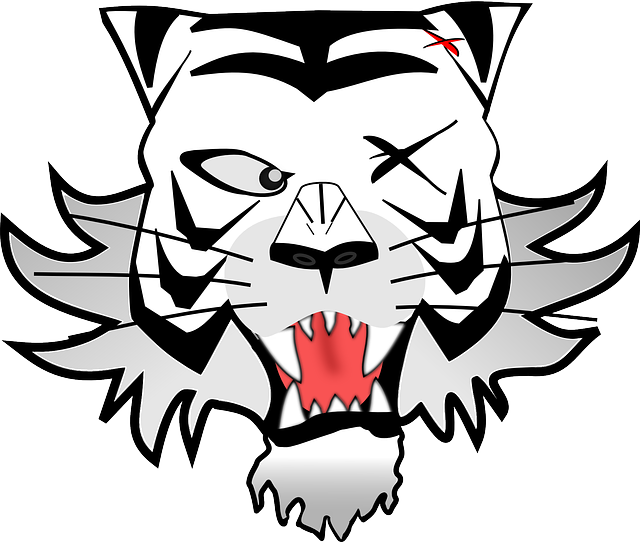 Wildcat clipart black and white. Free pictures images found