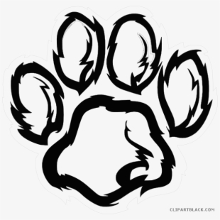 Freeuse download paw transparent. Wildcat clipart black and white