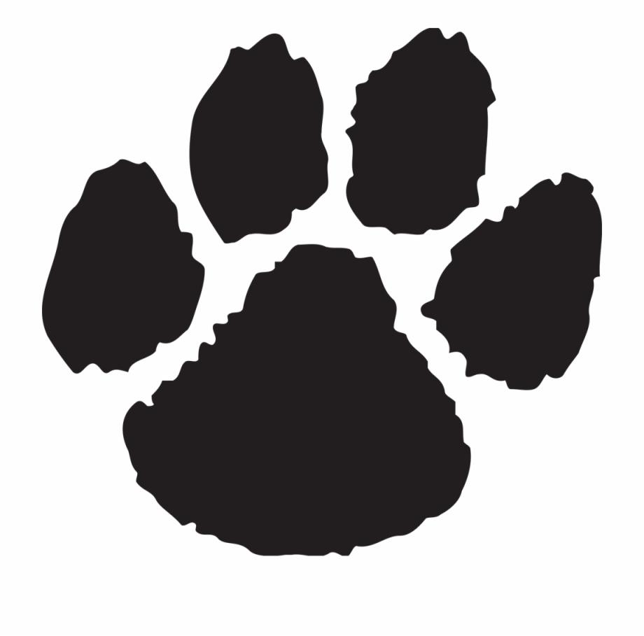 Pix for wildcats paw. Wildcat clipart black gold