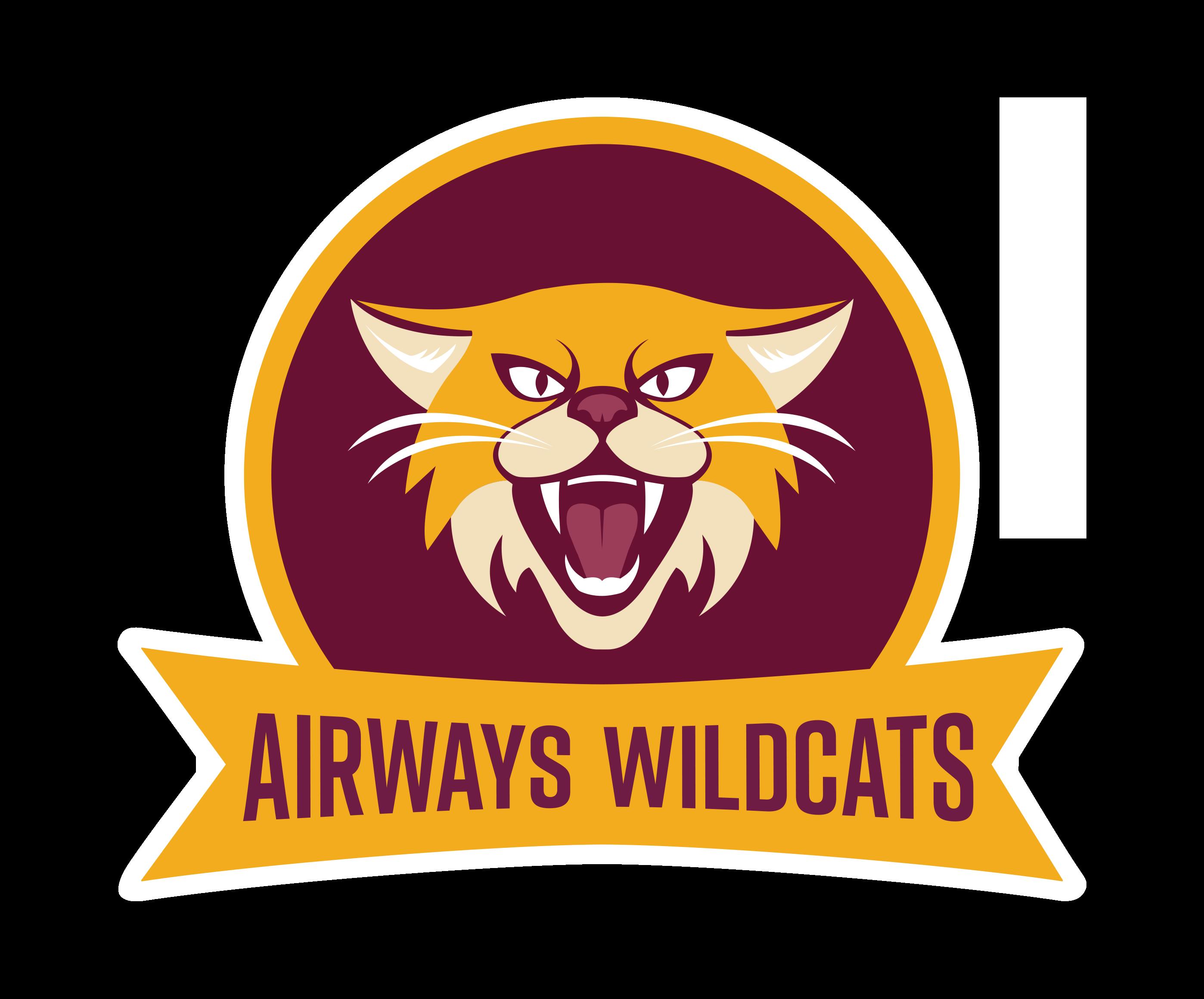 Wildcat clipart black gold. Airways wildcats spalairwayswildcatsrevfpng