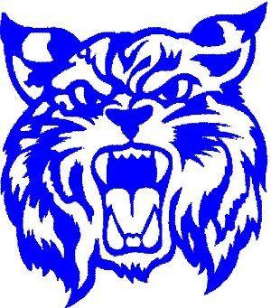 Logo blue free images. Wildcat clipart black gold