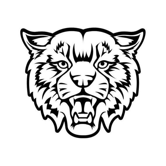 Mascot instant download vector. Wildcat clipart bobcat
