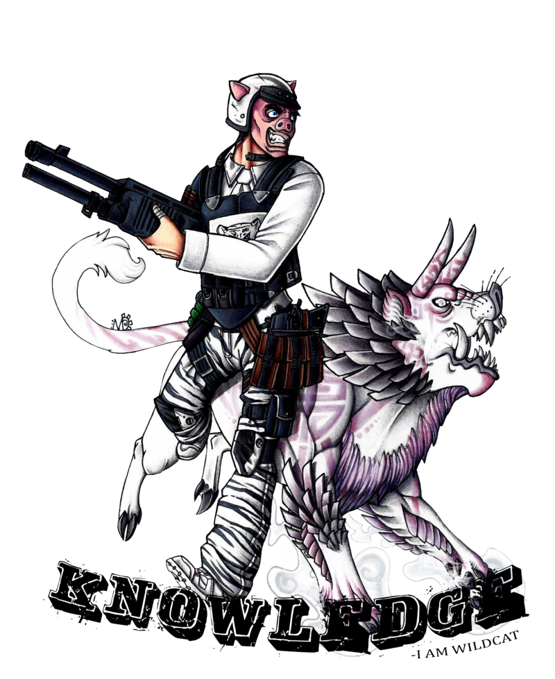 I am by deathrage. Wildcat clipart drawing