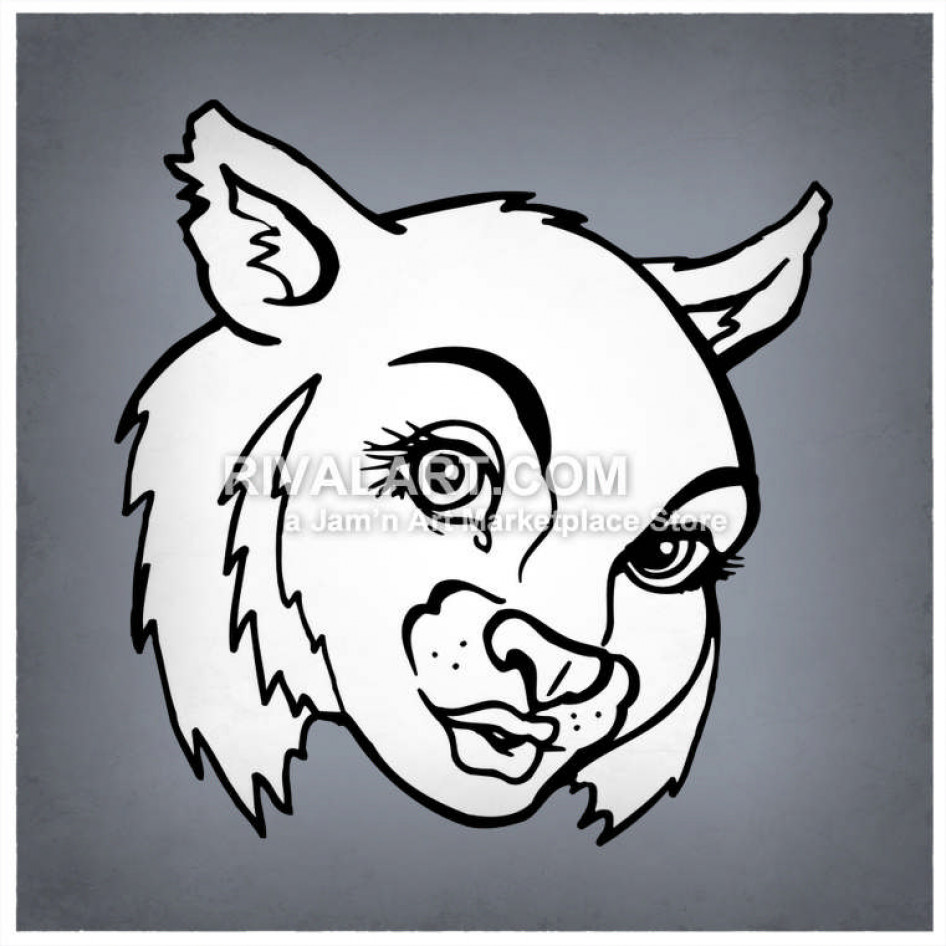 Wildcat clipart lady. Female wildcats bobcats graphic