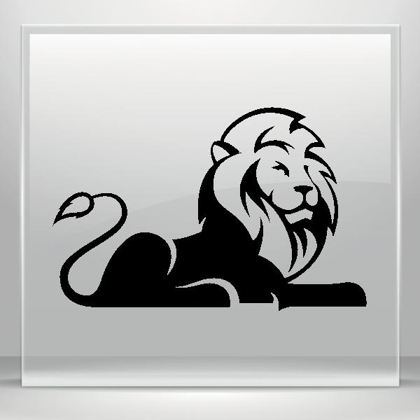 Simple color vinyl wild. Wildcat clipart lion