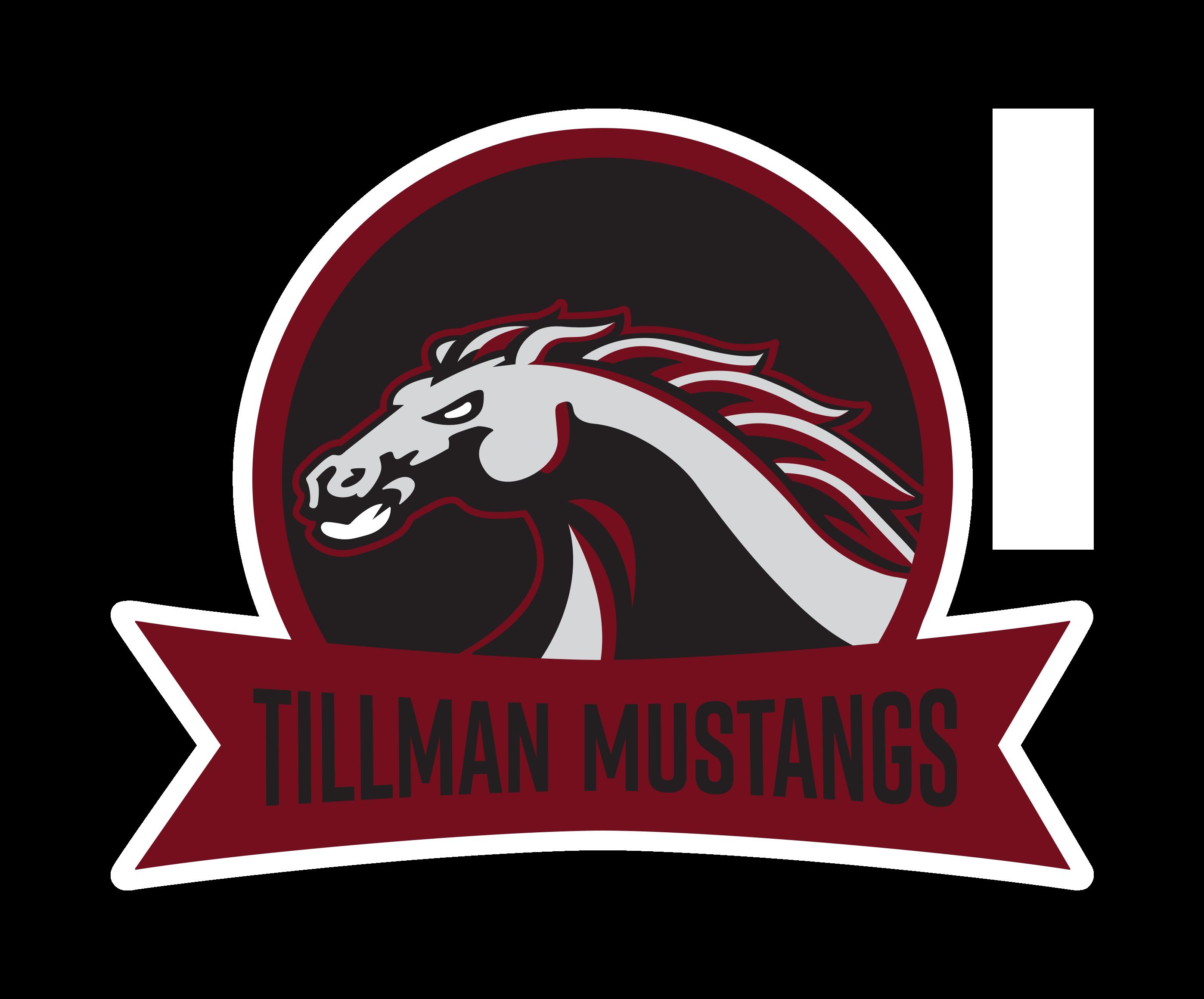 Tillman mustangs spaltillmanmustangsrevfpng. Wildcat clipart maroon