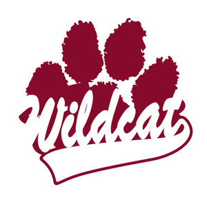 Wildcat clipart maroon. Paw prints free download