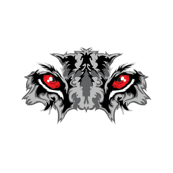 Wildcat clipart panther eye. Printed vinyl black tiger