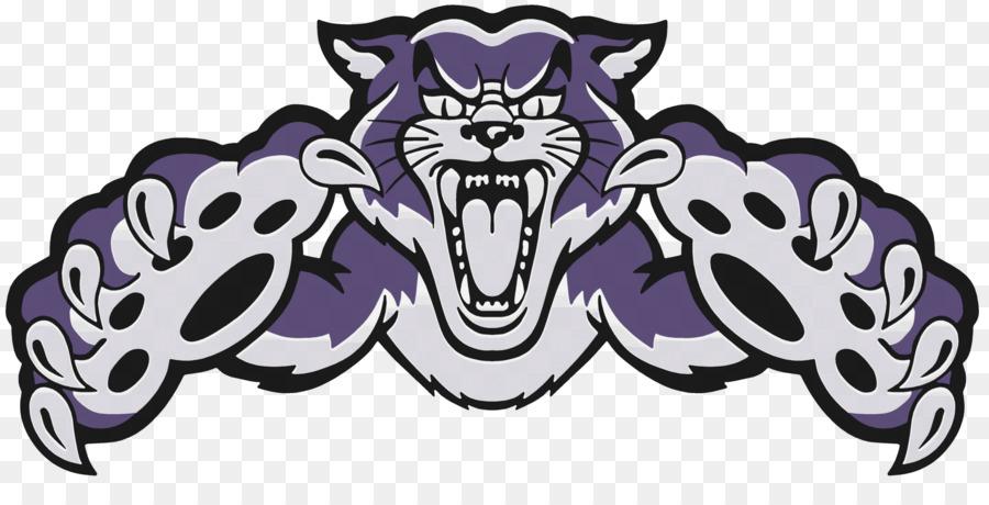 Mascot logo png download. Wildcat clipart purple