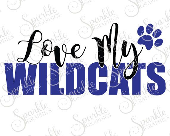 Wildcat clipart school spirit. Pride cut file svg