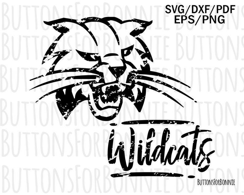 Wildcat clipart school spirit. Wildcats svg distressed team