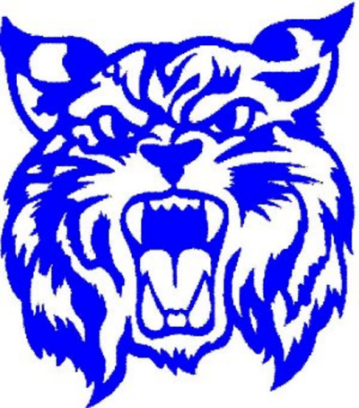 Wildcat clipart silhouette. Logo blue free images
