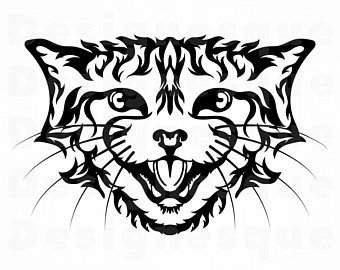 Etsy . Wildcat clipart silhouette