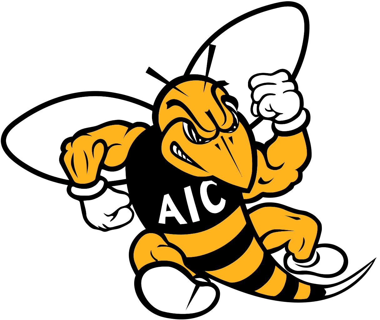 Yellow jackets american international. Wildcat clipart springfield